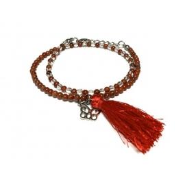 Bracelet jaspe rouge et...