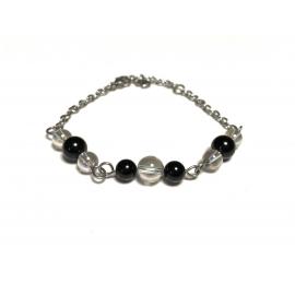 Bracelet tourmaline noire...