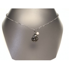Collier opale rose
